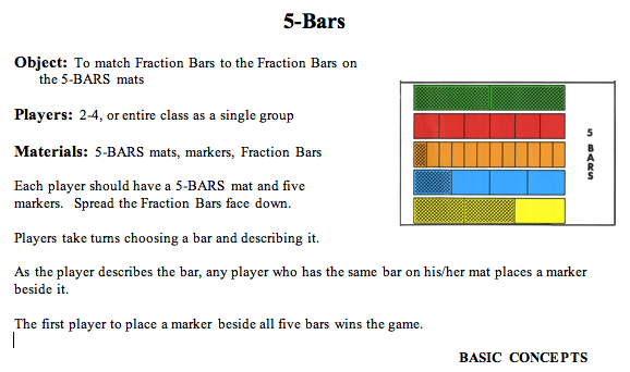 5 bars game rules basic concepts level