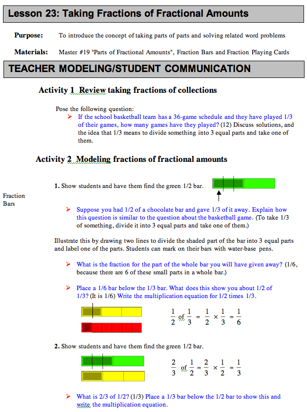 standards multi lesson