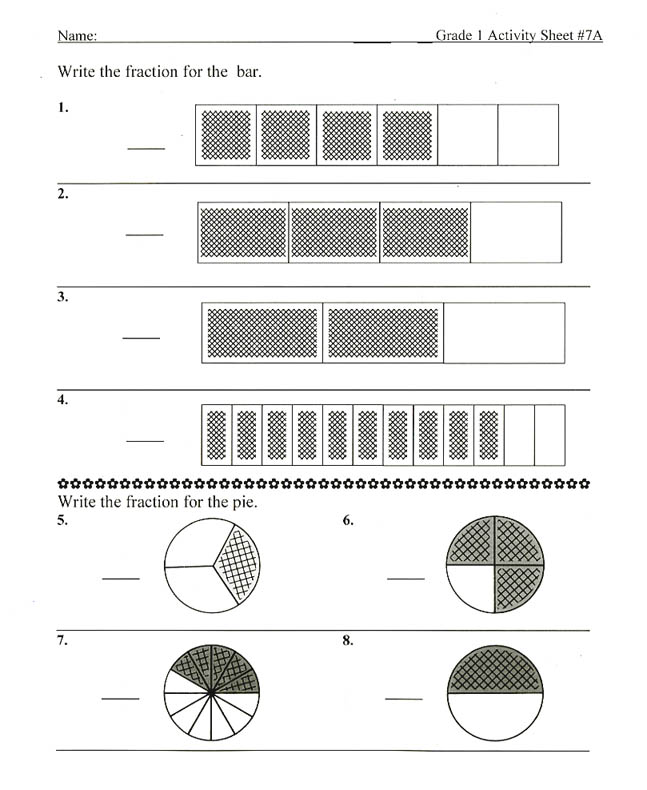 Fraction Bars Sample Worksheets Inequality – Fraction Strip Worksheet