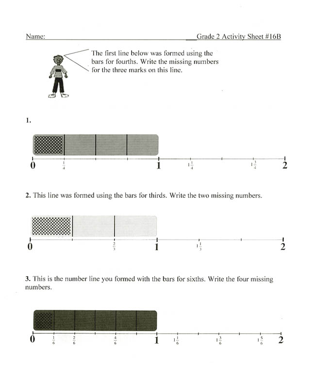 Fraction Bars Sample Worksheets Inequality – Number Lines Fractions Worksheets