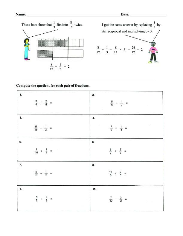 math worksheet : fraction bars sample worksheets  division : Fraction Bar Worksheets